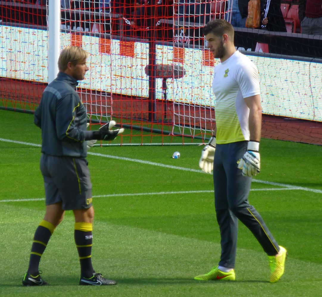 Goalkeeping Coach Dave Watson and Fraser Forster